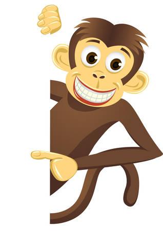Cute monkey Stock Vector - 6765981