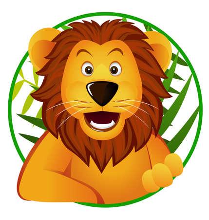 the lions: Le�n divertidos dibujos animados