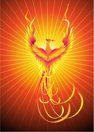 bird wing: Mythical phoenix bird Illustration