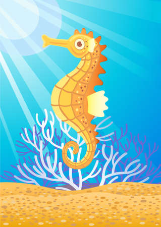 swimming underwater: Sea Horse