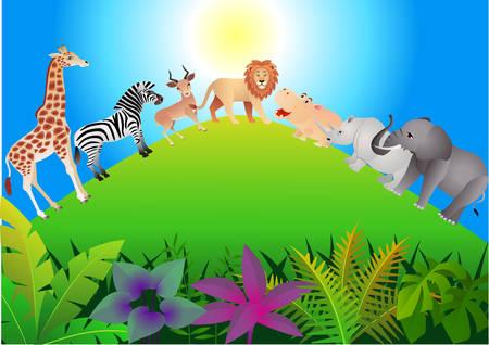 cascade mountains: Animal cartoon