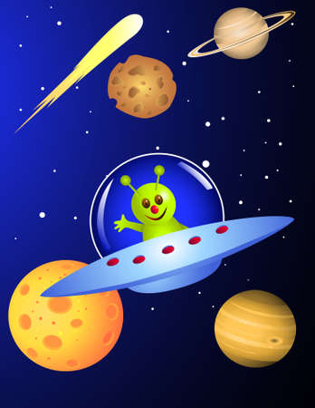 Cute alien Stock Vector - 6898626