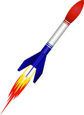the air attack: Rocket missile Illustration