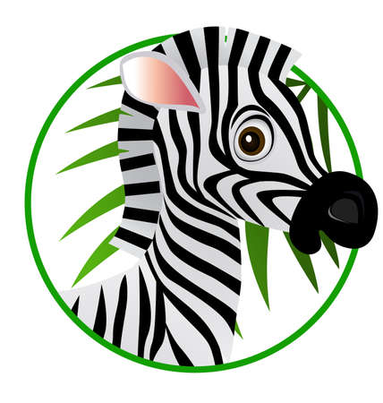 zebra cartoon Stock Vector - 6898634