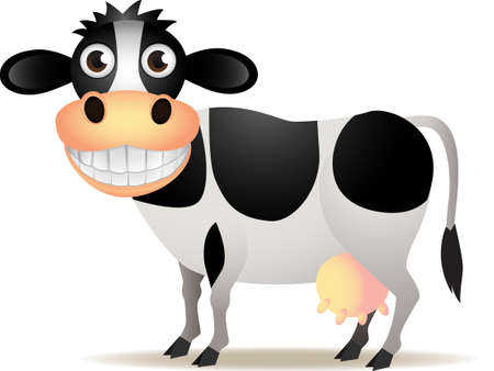 cow illustration: Cute cow isolated