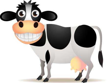 vacas lecheras: Vaca lindo aislado
