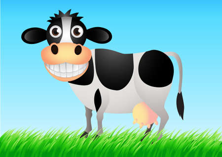 animal teeth: Cute cow