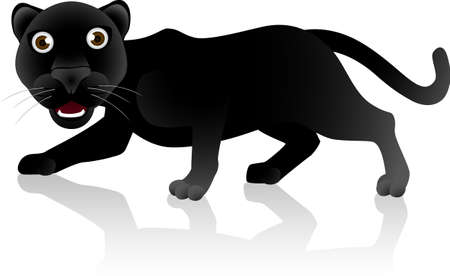 Caricatura de jaguar negro  Foto de archivo - 7030437