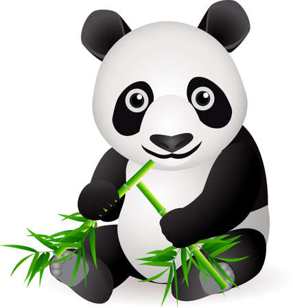 herbivore: Cute panda Illustration