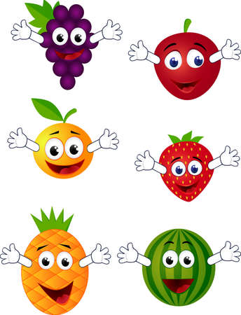 fruit illustration: Fruit cartoon Illustration
