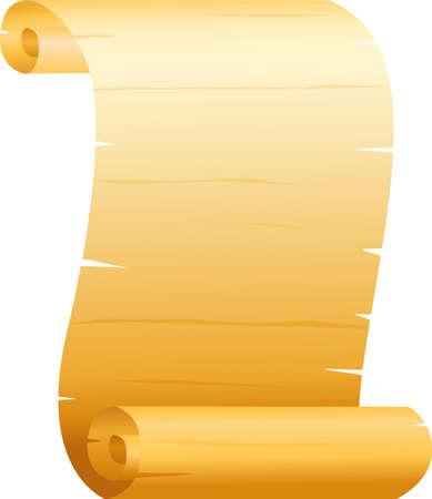 Vintage scroll paper Vector