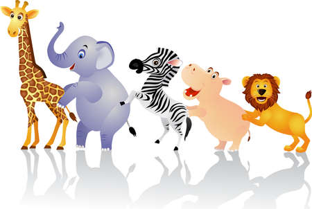 cartoon circus: Cute animal