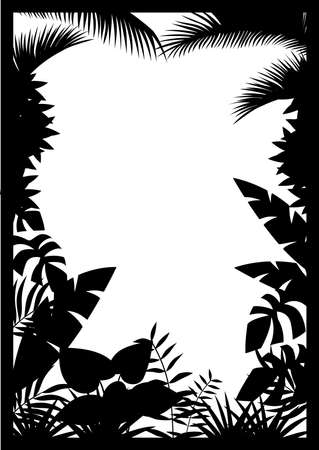 amazon forest: Forest silhouette Illustration