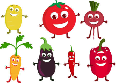 Vegetable cartoon character Stock Vector - 7464464