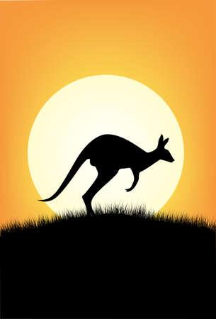 australian animal: Silueta de canguro