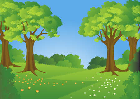 Forest ackground Stock Vector - 7511807