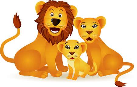 leones: Familia de Le�n  Vectores