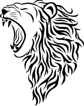 Lion tribal tattoo Stock Vector - 7511799