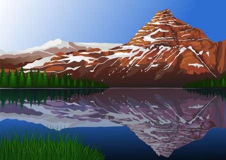 Beautiful mountain background Çizim