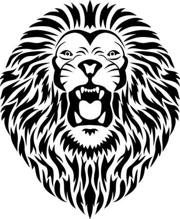 fleischfressende pflanze: Lion Stammes-T�towierung  Illustration