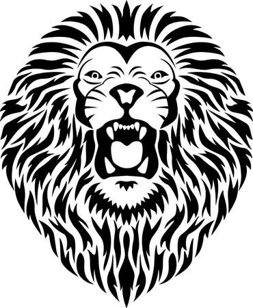 Lion tribal tattoo Vector