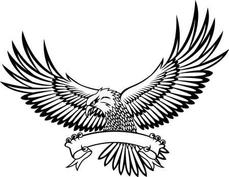 tribal wings: Eagle emblem