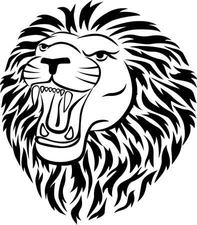 Lion head tatoo Vector