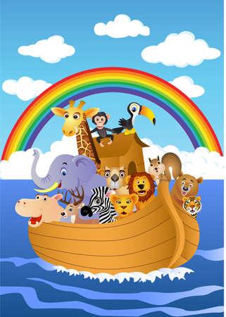 jirafa: Arca de Noé  Vectores