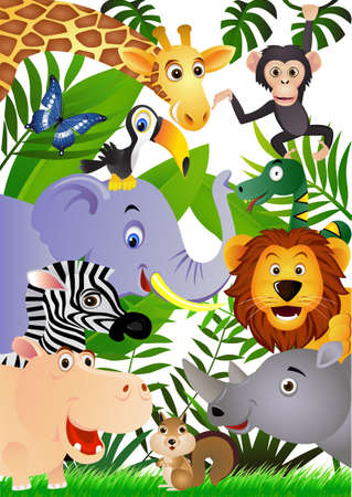 cartoon jungle: Animal cartoon