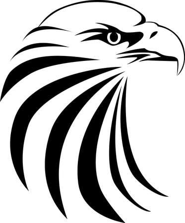 Eagle hoofd tattoo Vector Illustratie