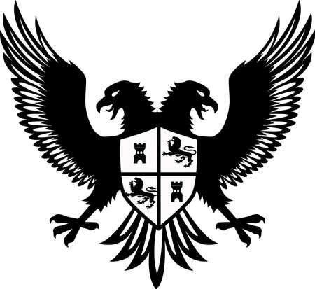 double: Heraldic eagle Illustration