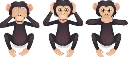 primates: See no evil, hear no evil, speak no evil