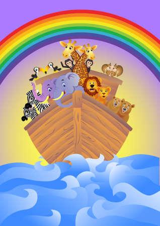 Noah,s Ark Stock Vector - 7714688