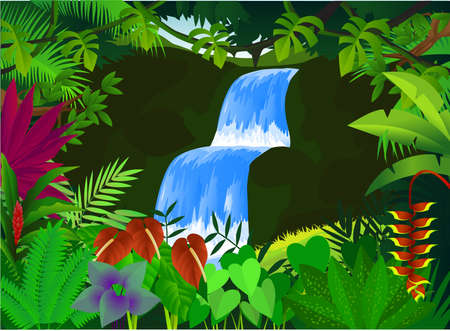 amazon river: Forest background Illustration