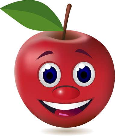 manzana caricatura: personaje de dibujos animados de manzana