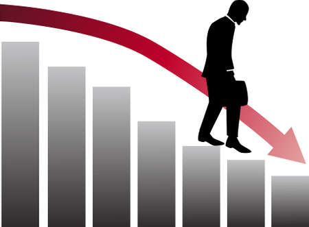 business declining Stock Vector - 8249344
