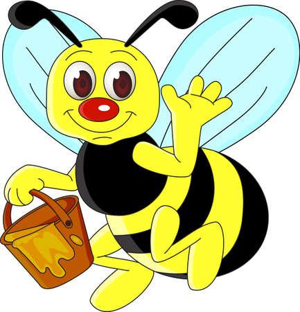 bee cartoon Stock Vector - 8336704