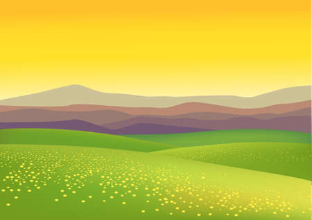 mountain view: Nature background Illustration