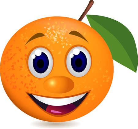 Caractère de carton orange