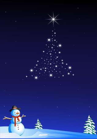 Starry christmas Vector