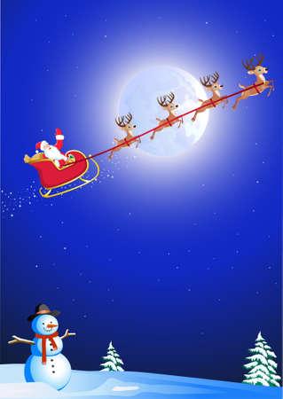santa's sleigh Stock Vector - 8379564