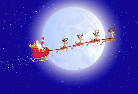 snow sled: santas sleigh Illustration