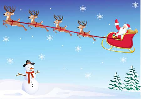 santa's sleigh Stock Vector - 8379560