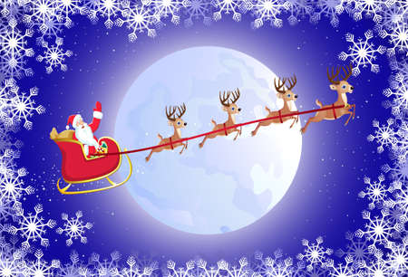 Santa's sled Stock Vector - 8379568