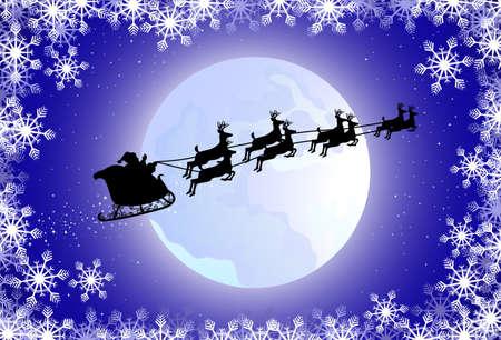 Santa's sled Stock Vector - 8379567