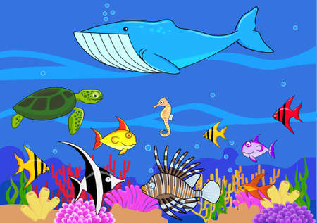 anemones: Sea life cartoon