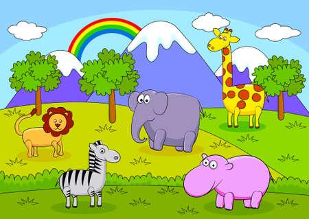 Animal cartoon Stock Vector - 8427243