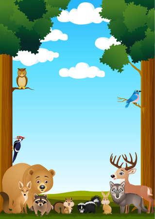 zorrillo: Caricatura de animal silvestre Vectores