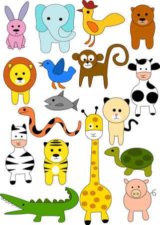 Animal doodle Vector