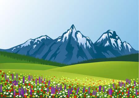 natuur summer achtergrond Vector Illustratie